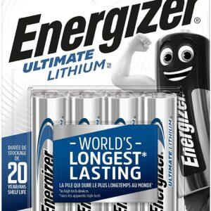 4 Piles Lithium AA / LR6 Energizer Ultimate Lithium