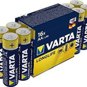16+4 Piles Alcalines AA / LR6 Varta LongLife Power
