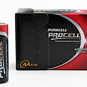 10 Piles Alcalines AA / LR6 Duracell Procell